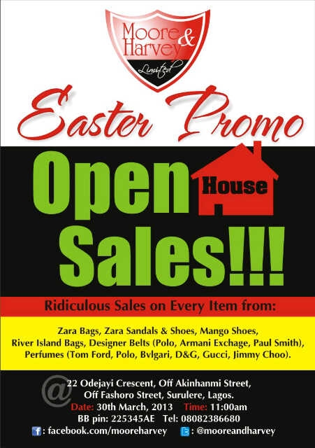 Easter Open House Sales