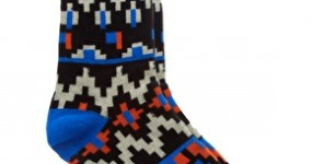 Humor Aztec-Print Graphic Socks